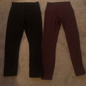 Two lululemon leggings